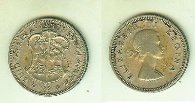 2 Shilling 1953  South Africa     Silber