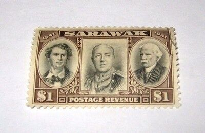 K.G.VI 1946 FINE USED SARAWAK $1 CENTENARY ISSUE,, CAT.£32,, sg149,, ONLY £2.99p