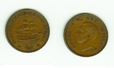 1/2 Penny 1945  South Africa