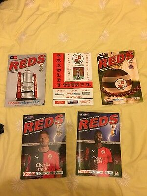 Crawley Town Home Programmes 2015/16 League Two FA Cup