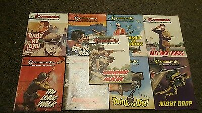 commando war stories in picture comic books x 9