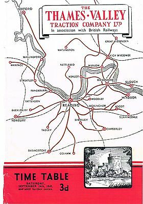 Thames Valley Traction Compy Ltd 1949 Bus Time Table