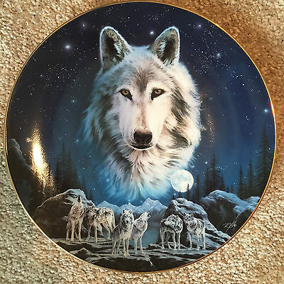 Eyes of the Night Wilderness Spirit/Hamilton Coll., 1994, Collectors Plate w/COA