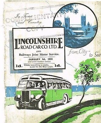 Lincolnshire Road Car Co Ltd: Bus Timetable booklet: January, 1936
