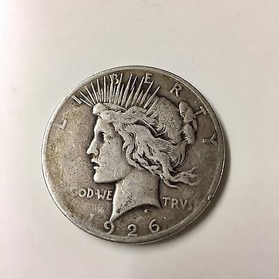 1926 USA Silver Peace $1 One Dollar Coin