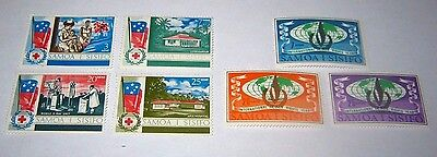 Q.E.II M/H & M/NH SAMOA HEALTH & HUMAN RIGHTS STAMPS FROM 1967-68,,ONLY 69p.
