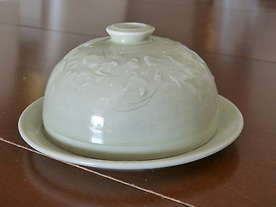 Mint! Vintage Australian Pottery Lidded Cheese Dish!