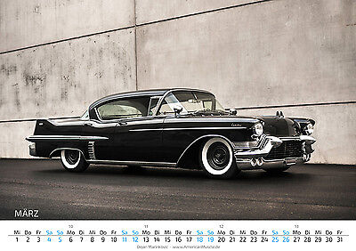 US-Car Kalender 2017 DIN A4 V8 Chevy Hot Rod Muscle Cars Ford Plymouth Oldschool