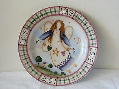 Mint! Country Style Love Decorator Plate With Angel!