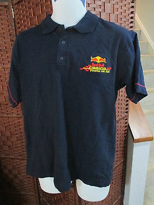 Red Bull Racing Formula One Polo Shirt Mens Large Blue