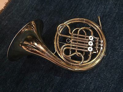 1970's Single French Horn by Weltklang - Hoyer Factory, East German - garland