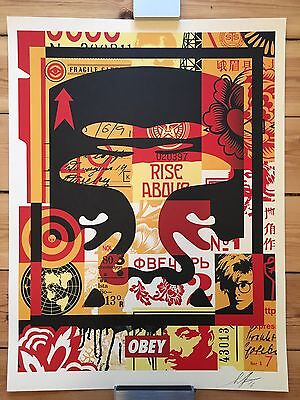 Shepard Fairey, Obey Face Collage, Obey Giant, 2016 signed