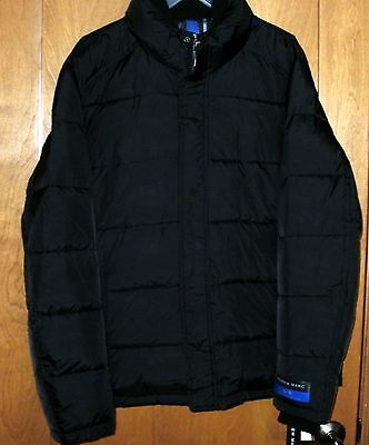 New NWT Andrew Marc Men's Puffer Style Water Resistant Coat Jacket Black Size L