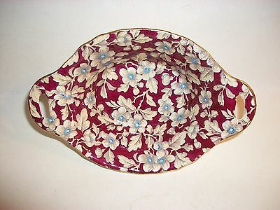 Lord Nelson Brocade Chintz Oval Tab Handle Bowl England Pottery