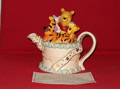 Scrumptious Cardew Winnie The Poohs Birthday Cake Teapot With Certificate.ex Con