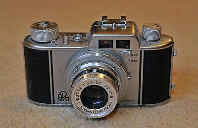Akarette II - Rare West German 1950's 35mm Camera with Case & Instructions