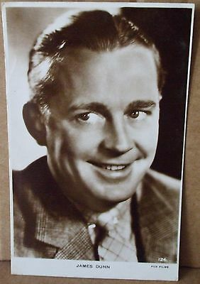 Old Real Photo - Film Star Postcard - James Dunn
