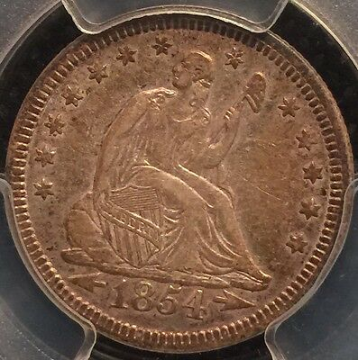 1854 Seated Qtr With Arrows Graded Pcgs Xf 45