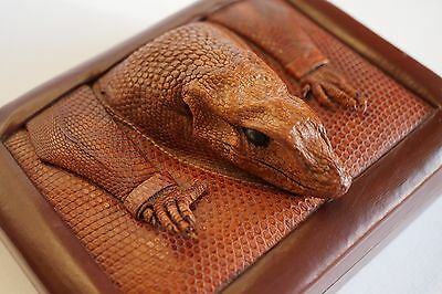Very nice Unique vintage Lizard leather box