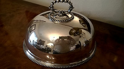 Beautiful Antique Silver Plate Dome with crest