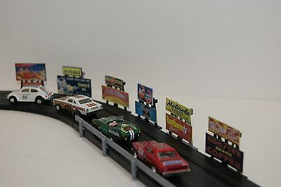 Ho Scale Slot Car Scenery / 6 DOUBLE  AD VINTAGE STYLE BILLBOARDS for AFX,TYCO