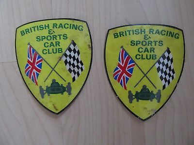 Vintage British Racing And Car Club Stickers