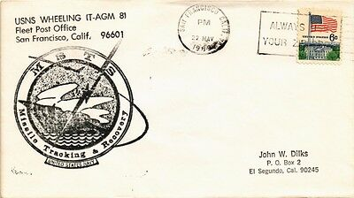 Dr Jim Stamps Us Navy Fleet Post Office San Francisco Cover Missile Tracking