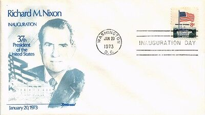 Dr Jim Stamps Us President Nixon Inauguration Political Event Cover 1973
