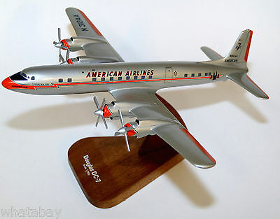 NOS American Airlines DC-7 Flagship NY Desk Airliner Model 1/100 Never displayed