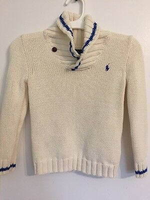 NWOT! POLO Ralph Lauren Boys Cable-Knit Cotton Pullover Sweater *Size 5