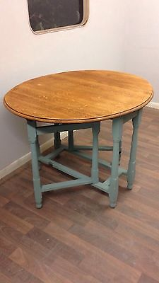 Shabby Chic Drop Leaf Dining Table Annie Sloan Chalk Paint