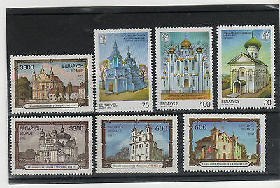 Belarus set mint stamps architecture:  Orthodox and Catholic church