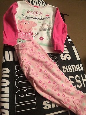 pyjamas girls 2-3 year peppa pig