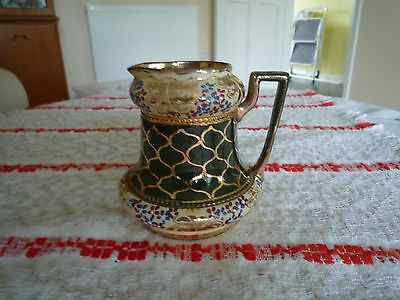 Lovely  Antique Staffordshire Milk Jug beautifully painted