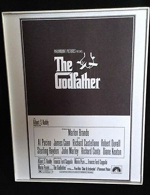 Movie Poster 1972 The Godfather 8.5 by 10 Framed Print