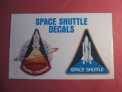 Space Shuttle Columbia Vintage Sticker Decal NEW Unused NASA USA John Young