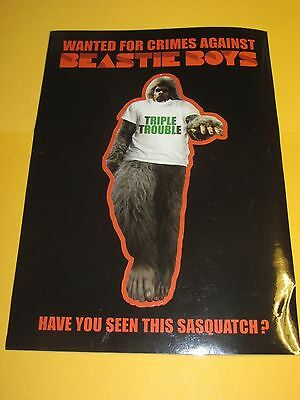 The Beastie Boys Wanted For Crimes Against Sasquatch Vintage Sticker Decal NEW