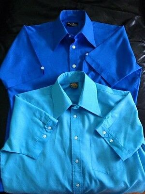 Two Short Sleeved 70's Men's Shirts: Skinhead, Suedehead, Mod