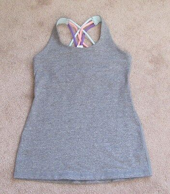 Ivivva by Lululemon Gray Tank with crossed straps - size 12