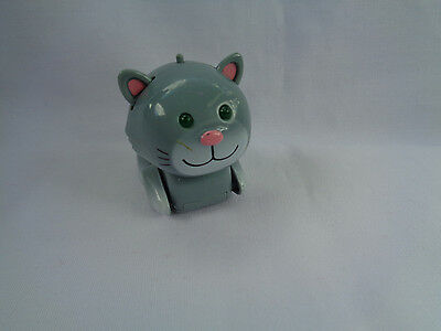 2002 Tomy Micropets Chumsley Grey Kitty / Cat Electronic Interactive Toy