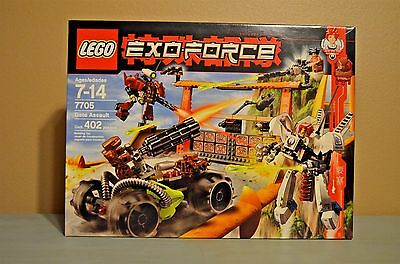 Lego Exo-Force Humans Gate Assault (7705) NIB Factory Sealed 402 Pieces NEW