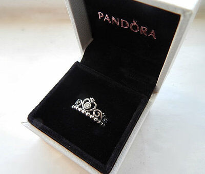 Pandora Princess Tiara Ring 190880CZ 4 SIZES GIFT POUCH INCLUDED