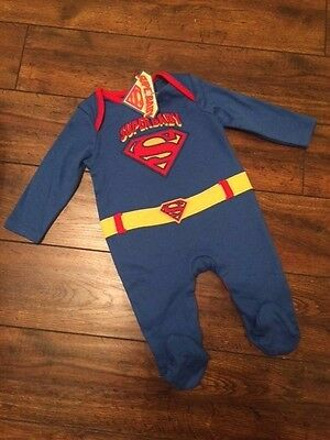 New bnwt baby boys superman sleepsuit tiny baby newborn 0-3 3-6 6-9 9-12 months