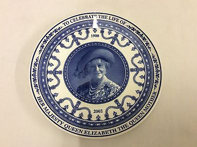 Wedgwood Plate Celebrating The Life Of Queen Elizabeth The Queen Mother