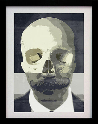 Skull Moustache Vintage A3 Wall Art Poster Street Print - Limited Edition Of 100