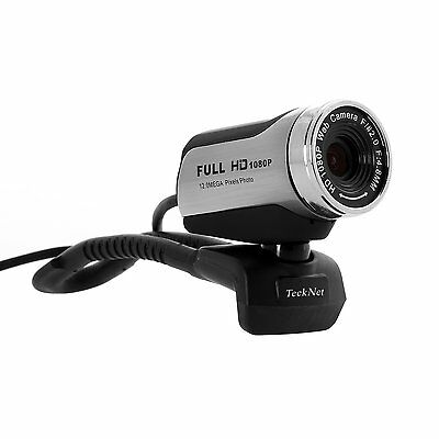 Computer Webcam Camera Full HD USB Microphone Skype VoiP Video Chat Internet