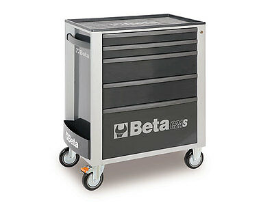 Beta C24S 5-Drawer Rolling Tool Cabinet (Steel Grey) - 3-DAY ONLY PRICE
