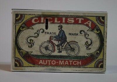 Very Rare Unusual Vintage Matchbox Lighter - CICLISTA - Uncle.
