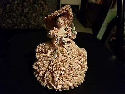 1950's Pink Nadine Figure California Heirlooms of Tomorrow Dresden Lace Exc. Con
