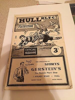 Hull FC v Featherstone Rovers Jan 1958